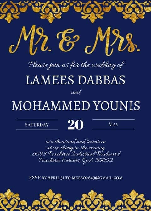 The Write Aesthetic Lamees-Invite Custom Orders