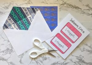 The Write Aesthetic fin-300x210 DIY Washi Tape Envelope Liners