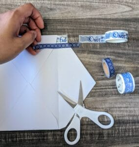 The Write Aesthetic step-2-284x300 DIY Washi Tape Envelope Liners