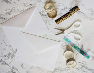 The Write Aesthetic supplies-300x233 DIY Washi Tape Envelope Liners